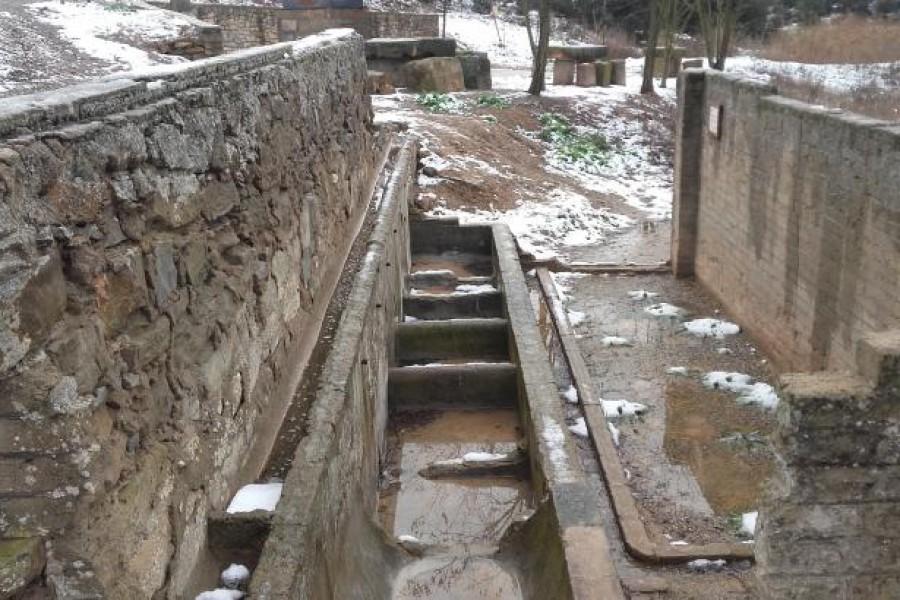 Restos campamento militar Guerra Civil